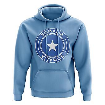 Sudadera con capucha del fútbol insignia Somalia (cielo)