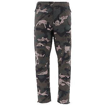 Valentino Camouflage Cotton Pants
