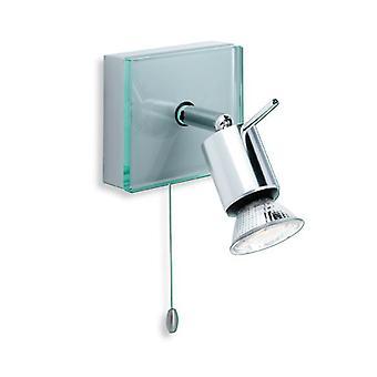 Firstlight-1 ljus singel switchade Spot Light aluminium, klarglas-5512AL