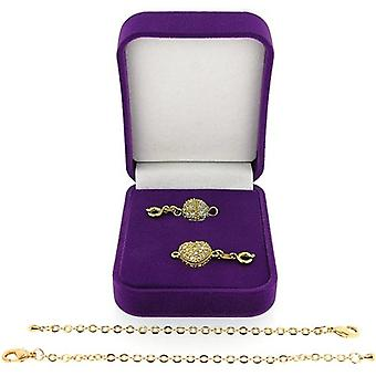 The Olivia Collection Set of 2 Goldtone Chain Extenders & 1 Magnet Closure