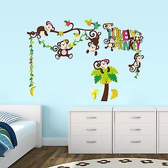 Väggdekor - Lovely Monkey 57 x 81 cm