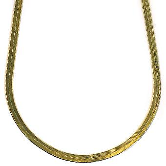 14K Gold Plated Herringbone Chain Necklace 4mm x 20 inches
