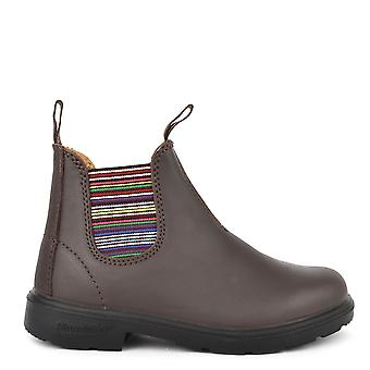 Blundstone Kids' 1413 Walnut Leather Stripe Boot