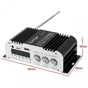 Car power amplifier digital audio player bluetooth 2.1 channel 45w 2x 20w hi-fi stereo black