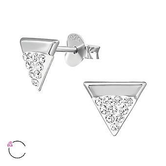 Triangle crystal from Swarovski® - 925 Sterling Silver Ear Studs - W39040X