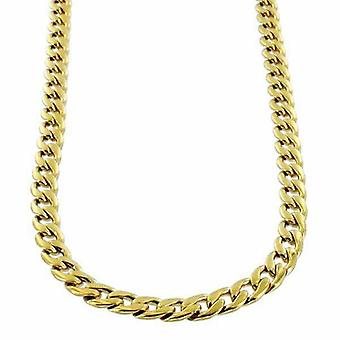 Necklace Cuban Link 5mm 18k Gold Stainless Steel