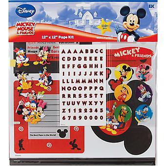 Mickey Mouse Page Kit 12 « X 12 » Mickey & Dmpk4 amis