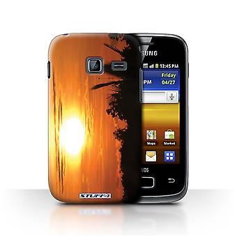 STUFF4 Case/Cover for Samsung Galaxy Y Duos/S6102/Orange Sky/Sunset Scenery