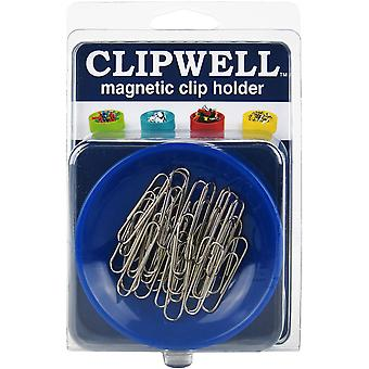 CLIPWELL Magnetic Clip Holder-Blue CW-BL