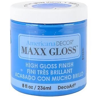 Maxx Gloss Acrylic Paint 8oz-Blue Crystal ADMG-36-14