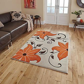 Verona Oc15 Hand Carved Rugs In Beige Terracotta
