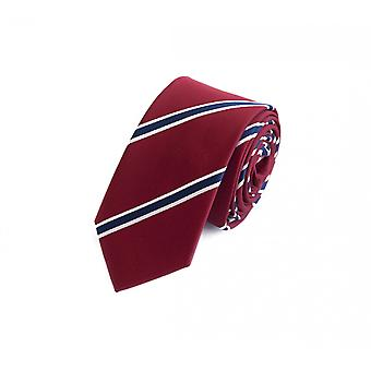 Fabio Farini Classic 6 cm tie, for every occasion in red with blue and white, narrow stripes