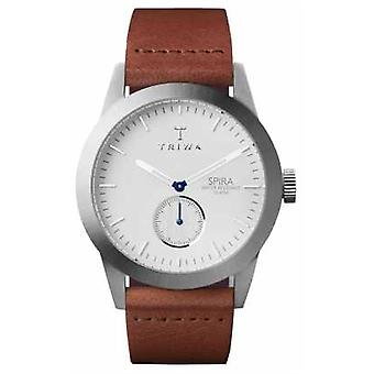 Triwa Mens Ivory Spira Brown Leather SPST102-CL010212 Watch