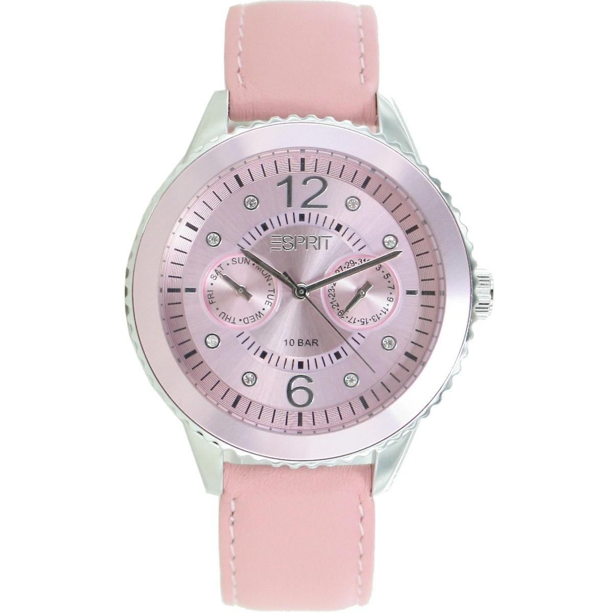 ESPRIT ladies watch Marin 68 speed pastel rose LEDER ES105332021