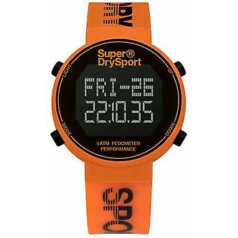 Superdry Unisex Digi Pedometer Orange Silicone Strap SYG203O Watch