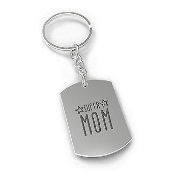Día de las madres Super mamá corazón perfecto en forma de llavero o regalos de Navidad para mamá