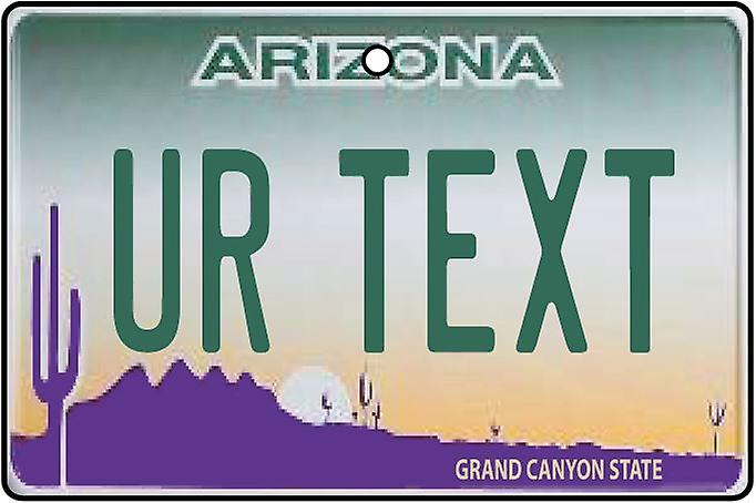 Personalised Arizona Numberplate Car Air Freshener