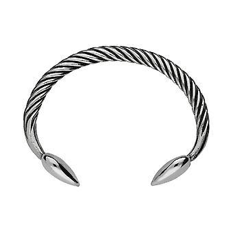 Handgemaakte hart hoofd Keltische Twist tinnen kleine armband ~ verstelbaar