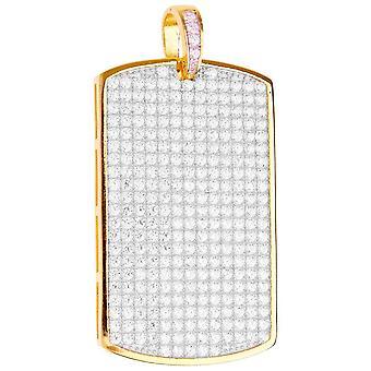 Premium Bling - 925 sterling sølv hund tag vedhæng-guld