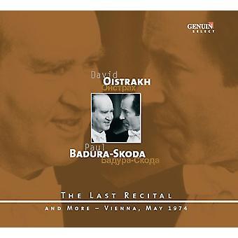 Schubert/Mozart/Beethoven - Oistrakh, Badura-Skoda: El último Recital - Viena, importación USA de mayo de 1974 [CD]