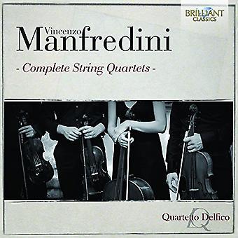 Manfredini / Quartetto Delfico - Manfredini / Quartetto Delfico: Complete String Quartets [CD] USA import