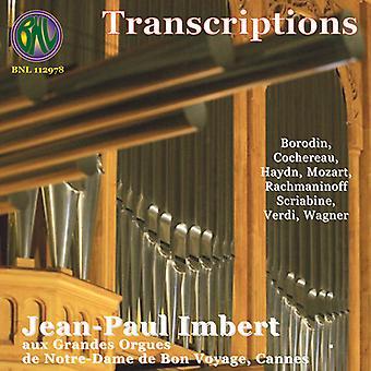 Jean-Paul Imbert - transskriptioner for orgel [CD] USA import