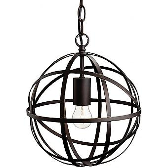 Firstlight Artistic Retro Antique Brown Open Ball Cage Ceiling Pendant