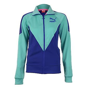 PUMA Damen-Trainingsjacke Icon Track Mint/Blau