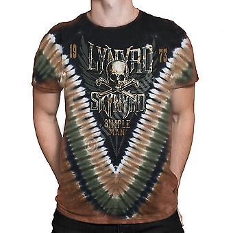 Liquid Blue-SIMPLE MAN Lynyrd Skynyrd-Short Sleeve Tie Dyed T-Shirt .