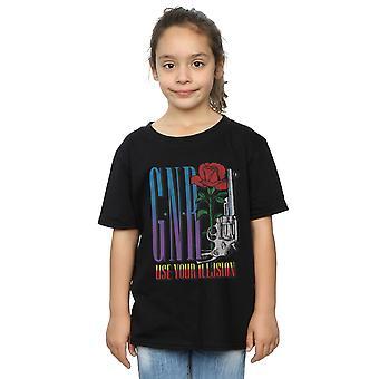 Guns N Roses Girls Use Your Illusion Rose T-Shirt