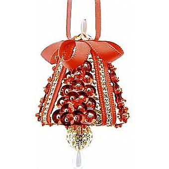 Pinflair Red & Gold Tiny Chimes Pin & Sequin Christmas Craft Kit - Makes 4