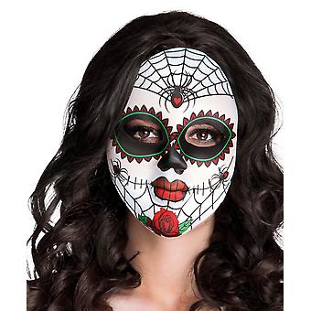 Day Of The Dead Spider Skeleton Face Mask Halloween Accessory