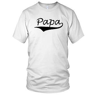 Papa vaders dag verjaardag huidige Mens T kerstshirt