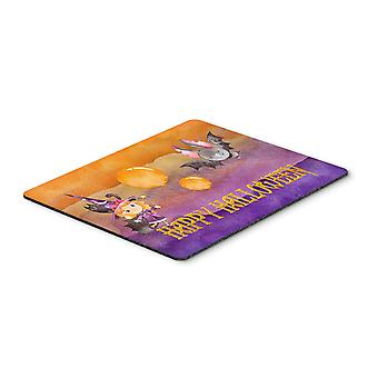 Halloween Little Witch and Bat Mouse Pad, Hot Pad or Trivet