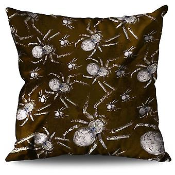 Creepy Spider Cool Linen Cushion Creepy Spider Cool | Wellcoda