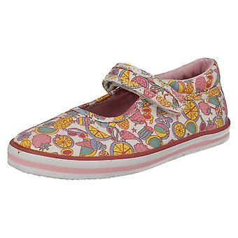 Girls Startrite Canvas Pumps Tutti Fruity