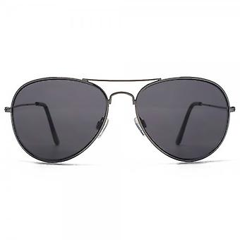 M:UK Portobello Classic Pilot Sunglasses In Gunmetal