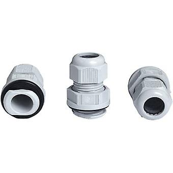 Cable gland with strain relief M20 Polyamide Silv