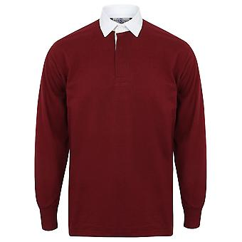 Front Row Long Sleeve Classic Rugby Polo Shirt