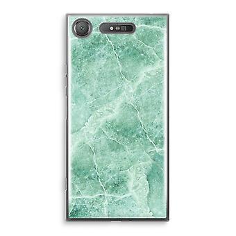 Sony Xperia XZ1 gjennomsiktig sak (myk) - grønn marmor