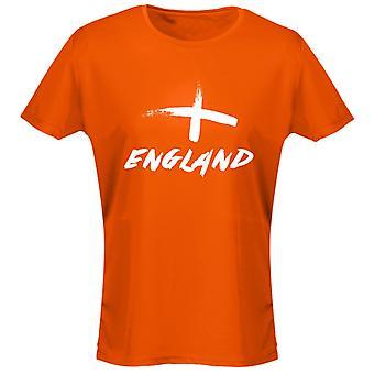 Inglaterra pintado fútbol mujeres camiseta 8 colores (8-20) por swagwear