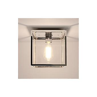 Box Outdoor Polished Nickel Ceiling Light - Astro Lighting 7846