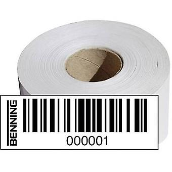 Benning 756301 Barcode stickers (1000 pcs), Compatible with (details) Benning ST 750 756301