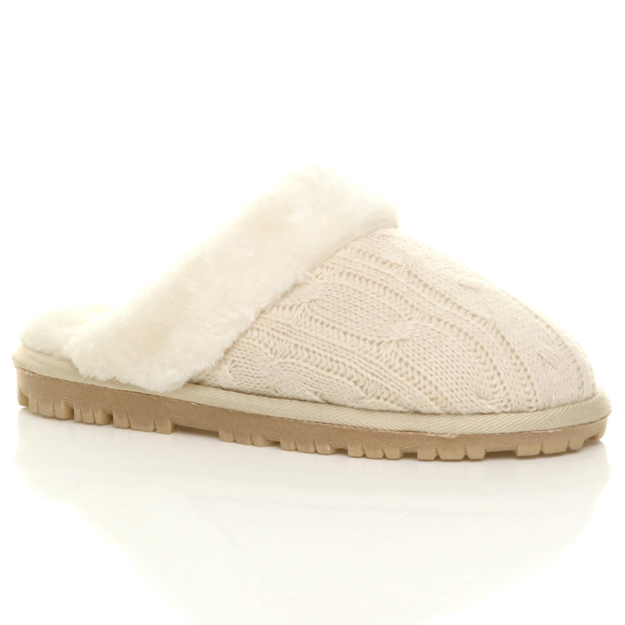 Pelliccia di montone ecologico di Ajvani womens inverno piatto foderato scivolare su scarpe pantofole di lusso muli