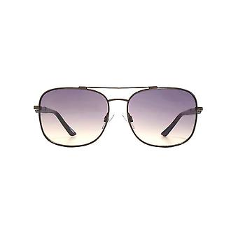 French Connection Metal Navigator Sunglasses In Shiny Brown
