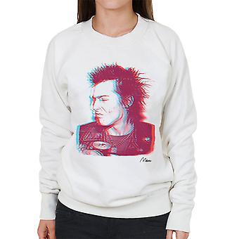 Sid Vicious Close Up With Beer Pink Women's Sweatshirt