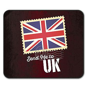 UK Flag Tourist Holiday  Non-Slip Mouse Mat Pad 24cm x 20cm | Wellcoda