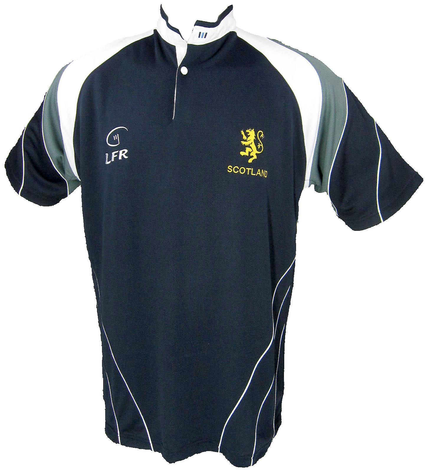 Scotland Lion Rampant Breathable Rugby Shirt by Live for Rugby Sizes XS - 3XL