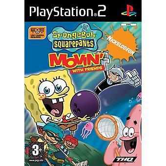 Svampbob och vänner Movin (PS2) (Eye Toy)