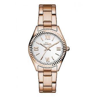 s.Oliver ladies watch wrist watch SO-3084-MQ gold